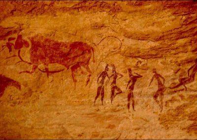 peinture rupestre cercle d'hommes