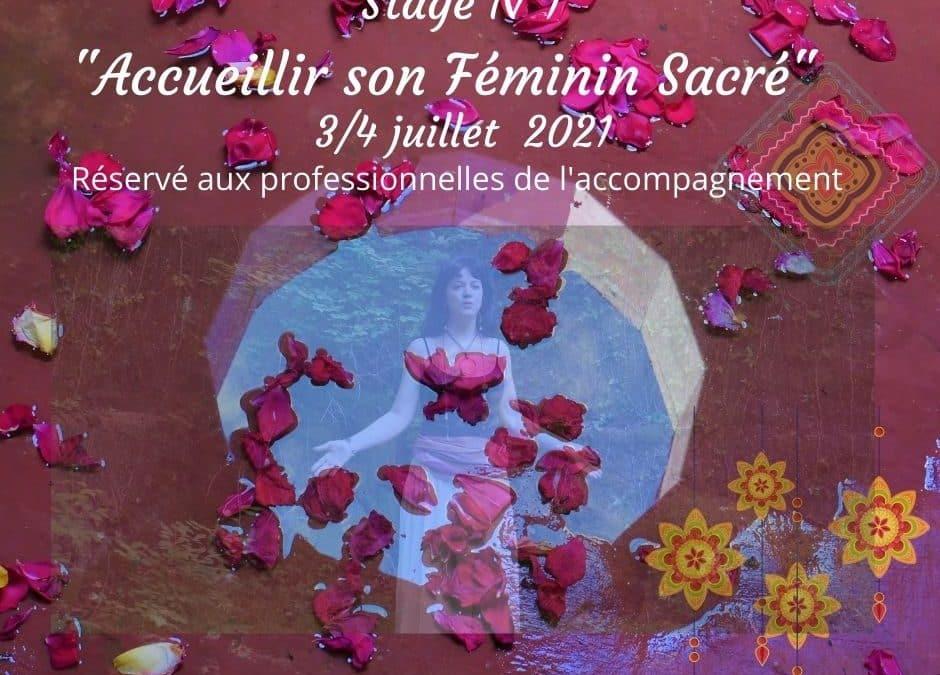 Stage «Accueillir son Féminin Sacré» destiné aux professionnelles de l'accompagnement