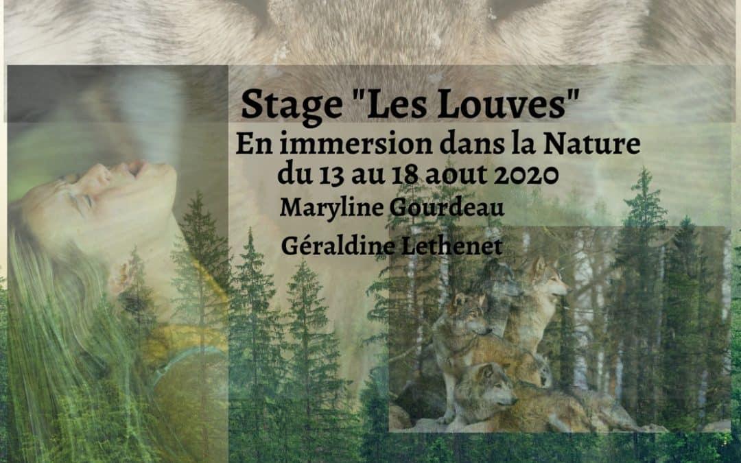 ouvert à toutes Stage»Les Louves» en immersion dans la Nature Sauvage