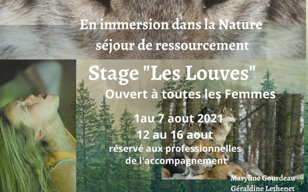 Stage «Les Louves» en immersion dans la Nature Sauvage